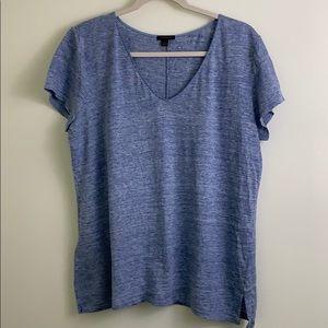 Blue Ann Taylor V-neck Tshirt